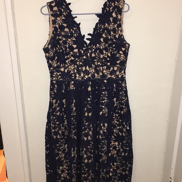 Soprano Dresses & Skirts - SOPRANO Navy Blue Floral dress size Large